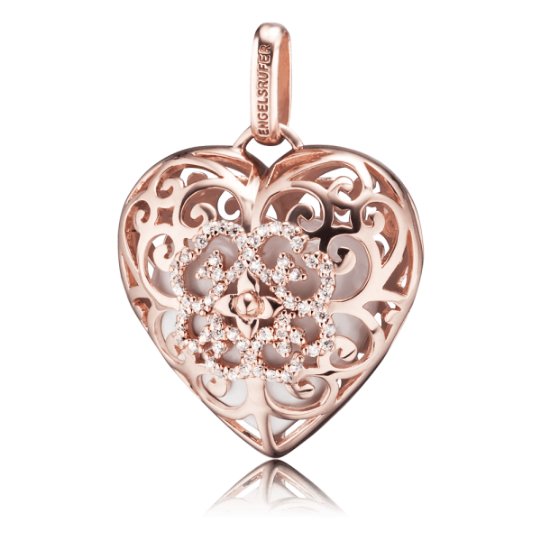 Engelsrufer pendant heart rose plated