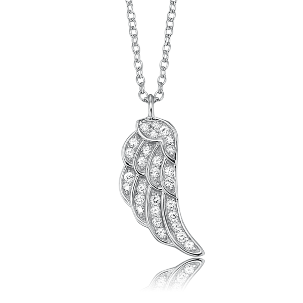 Engelsrufer necklace wing silver