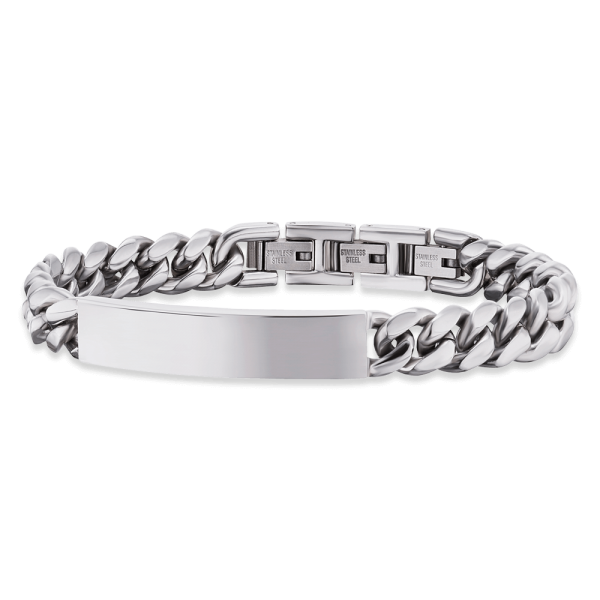 Save Brave stainless steel ID bracelet Carter
