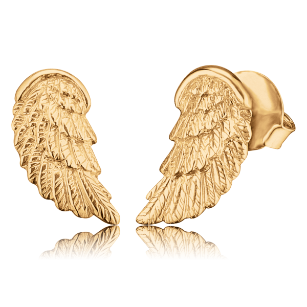 Engelsrufer ear studs wing gold plated