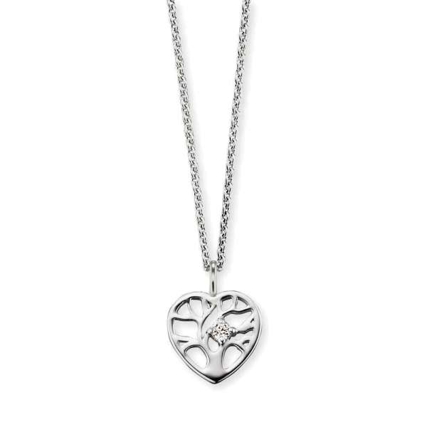 Herzengel necklace tree of life heart