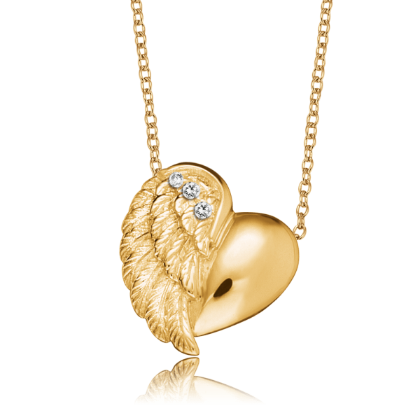 Engelsrufer necklace heart wing gold plated