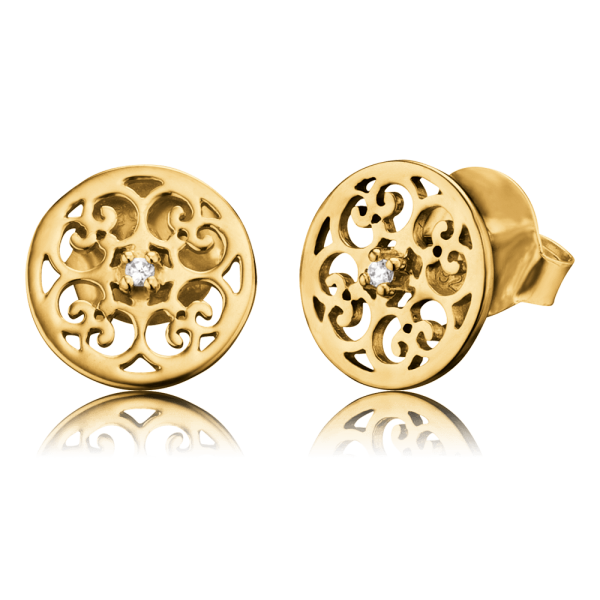 Engelsrufer ear studs ornament gold plated