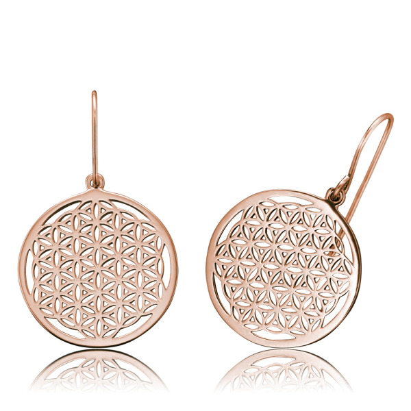 Engelsrufer earrings flower of life rose plated
