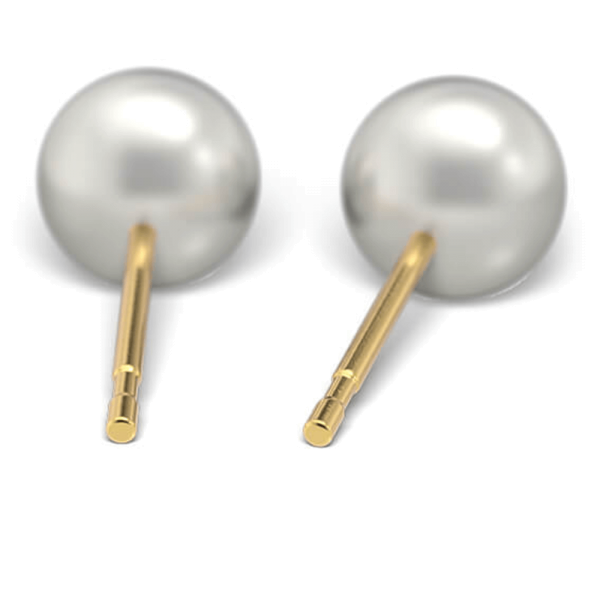 Sensitive by STUDEX® | Ohrstecker Perle weiss / gold