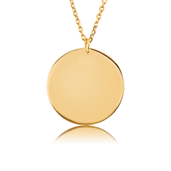 Nahu Love Letters necklace disk gold plated