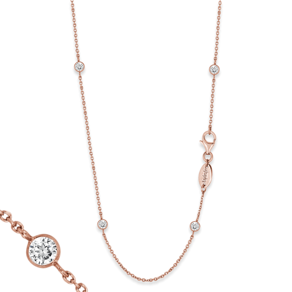 Engelsrufer necklace moonlight zirconia rose plated