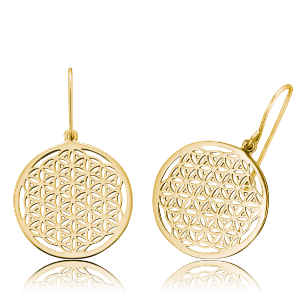 Engelsrufer earrings flower of life gold plated