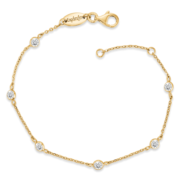 Engelsrufer bracelet moonlight zirconia gold plated
