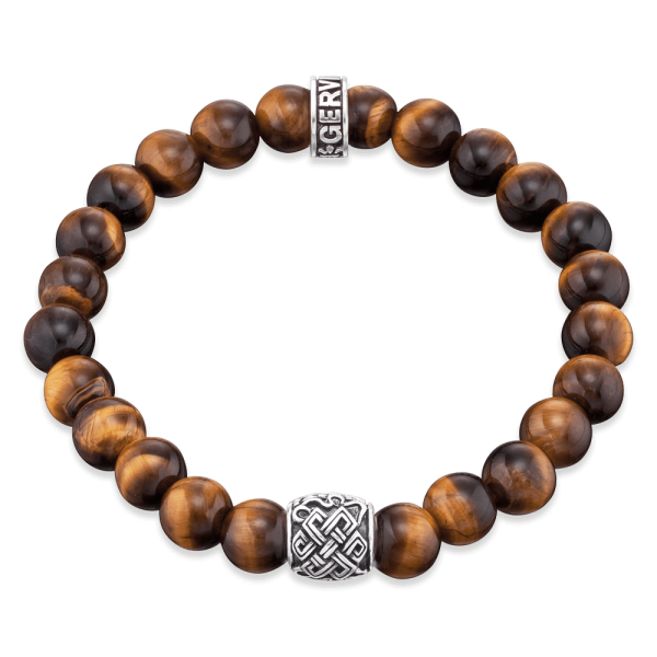 Gervida bracelet tiger eye Celtic knot