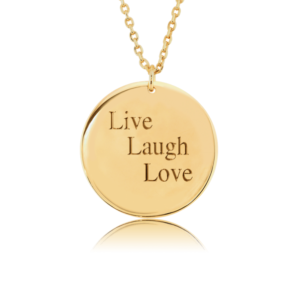Nahu Love Letters Kette Live Laugh Love Gold plated
