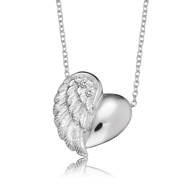 Engelsrufer necklace heart wing silver