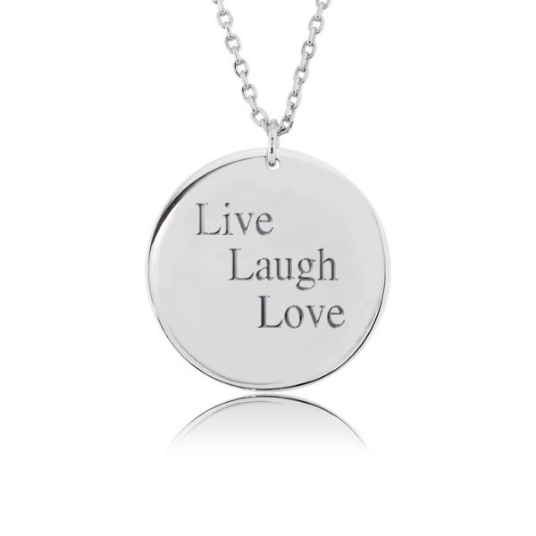Nahu Love Letters Kette Live Laugh Love Silber