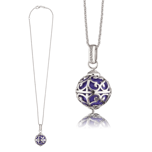 Herzengel necklace Engelsrufer purple