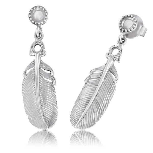 Engelsrufer ear studs feather