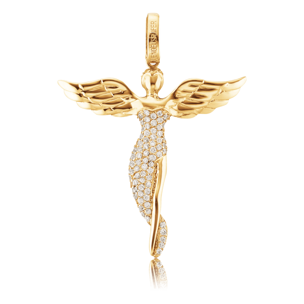 Engelsrufer pendant angel zirconia gold plated