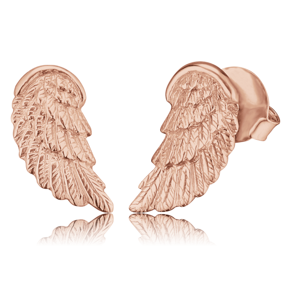 Engelsrufer ear studs wing rose plated