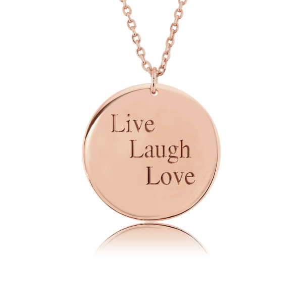Nahu Love Letters Kette Live Laugh Love Rosé plated