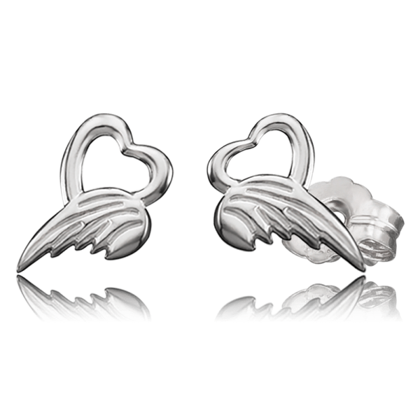Herzengel ear studs angel of heart