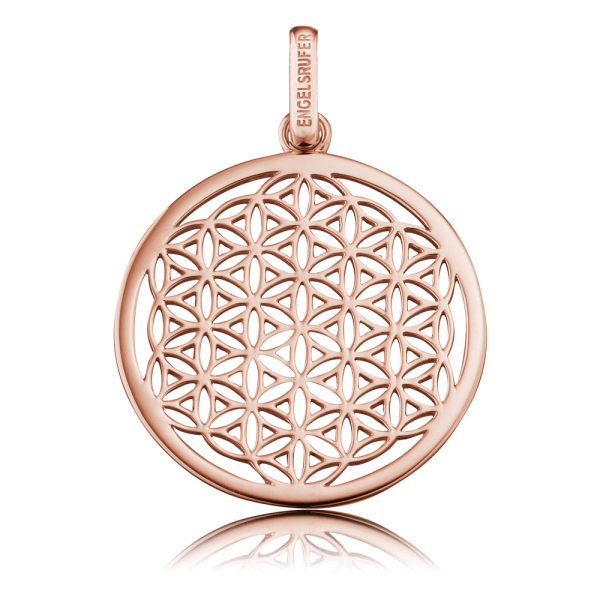 Engelsrufer pendant flower of life rose plated