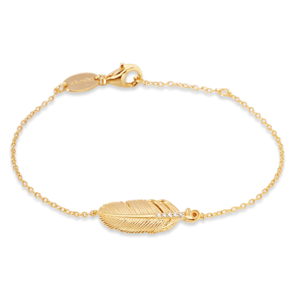 Engelsrufer Armband Feder Gold plated