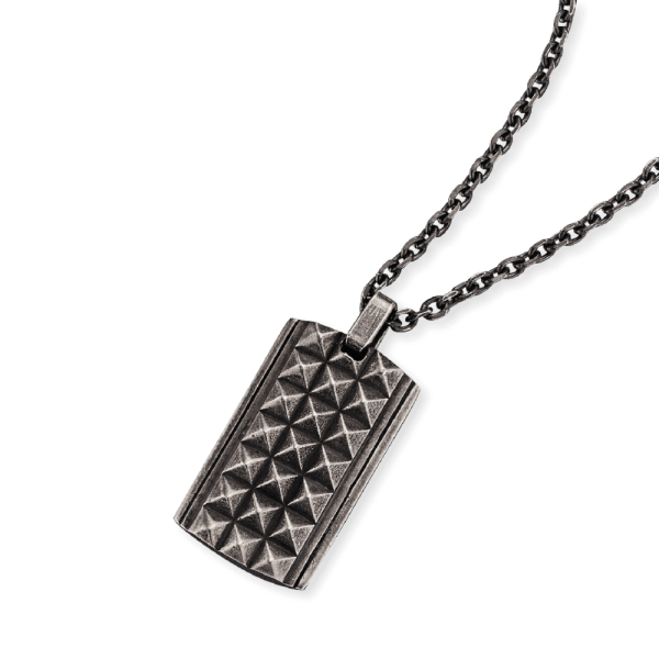 Save Brave Dog Tag necklace Phillip stainless steel
