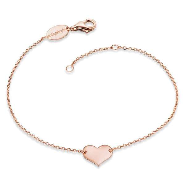 Engelsrufer bracelet heart rose plated